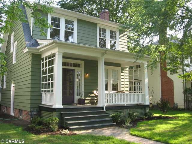 I Ve Always Liked The Muted Green For A House House Paint Exterior Exterior Paint Colors For House Green House Exterior