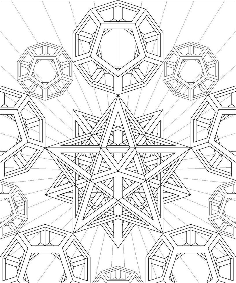 geometric coloring page # 1