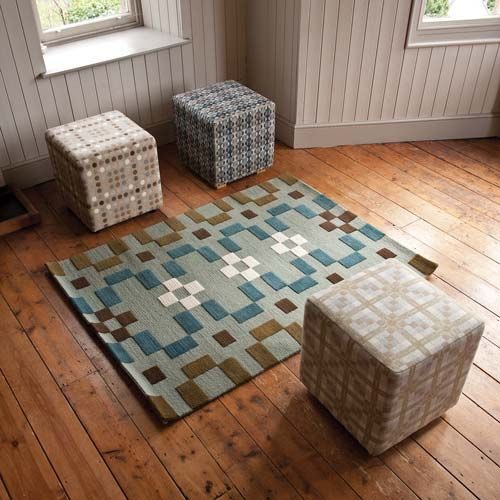 Floor Rug Cubes Furniture And Rugs Melin Tregwynt Woven In Wales