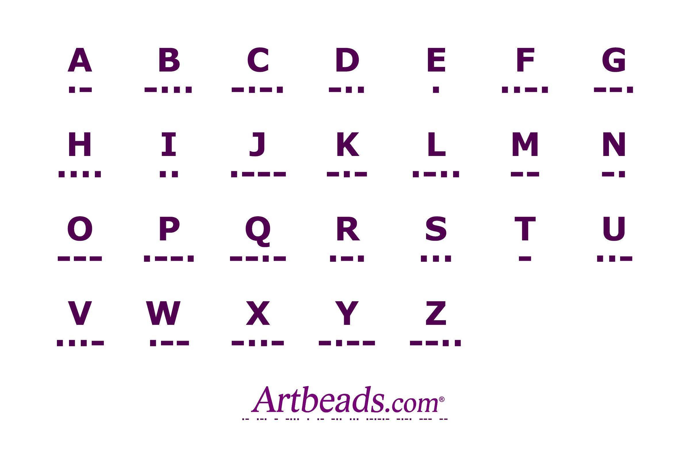 A Morse Code Chart From ArtbeadsCom A Handy Reference For Adding
