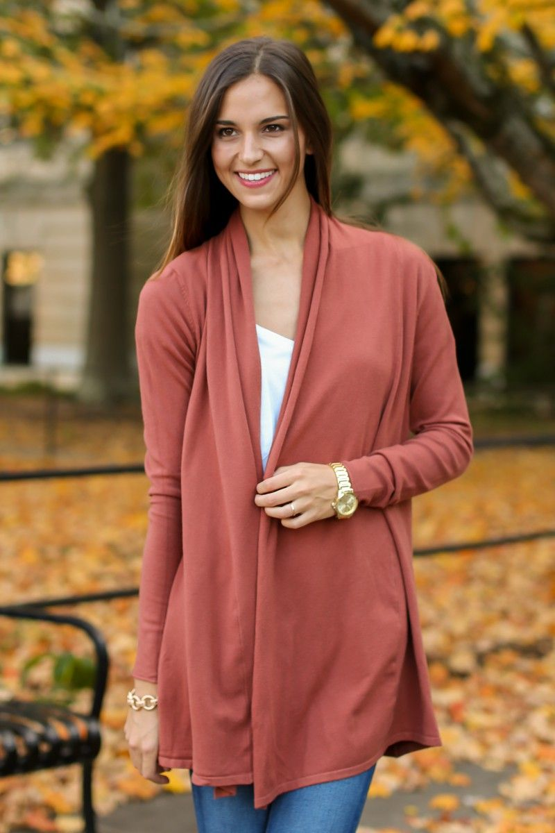 Get Closer Rust Orange Cardigan at reddressboutique.com | Getting ...