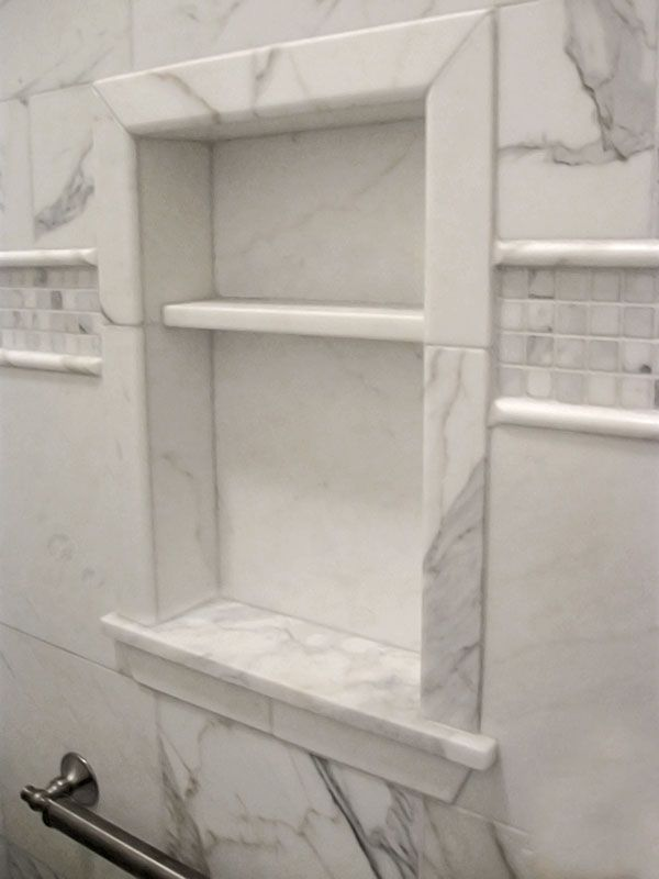 White Marble Tile Bathroom nice shower enclosure idea luxury master bathroom remodeling ideas