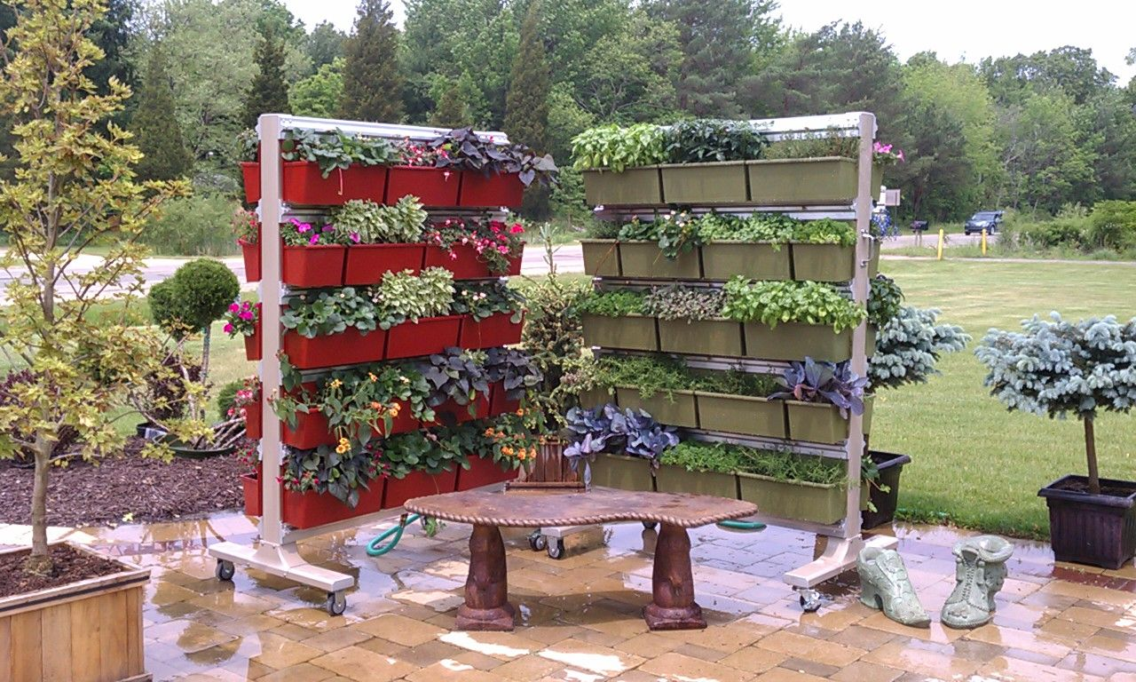 Bloomin On Blue Star In Saugatuck Mi Is Displaying Vertical Gardens Wheels New Livescreen System