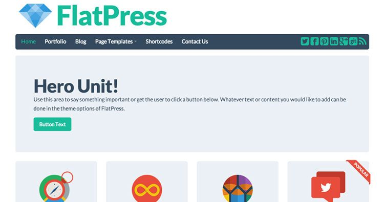 FlatPress - a responsive Twitter Bootstrap theme that uses the Flat ...