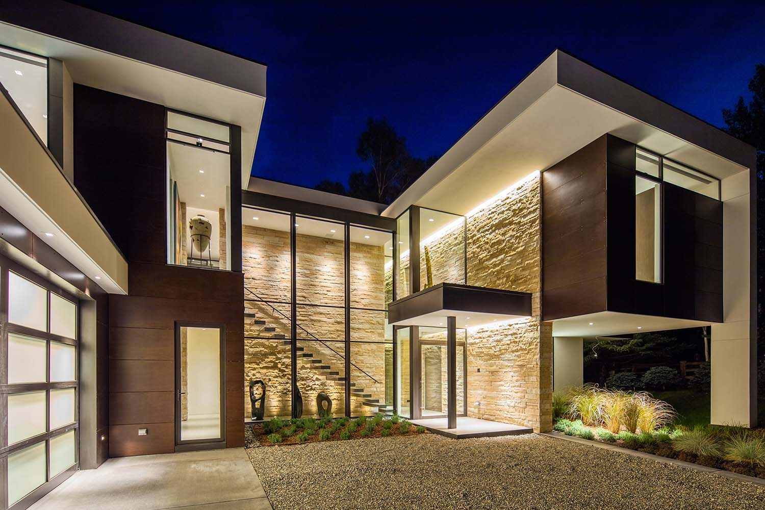 modern home architecture stone. Delighful Stone Dramatic Stone And Glass Home In Aspen Surrounded By Forest Modern  Architecture  Inside Home Stone R