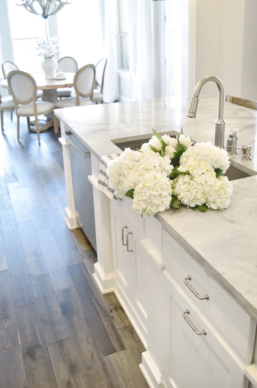 I love everything about this kitchen..especially the white ...