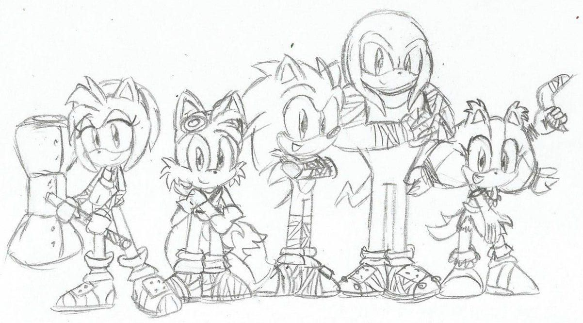 Sonic Boom Coloring Pages 4 For Children In 2020 Colouring Pages Coloring Pages Sonic Boom