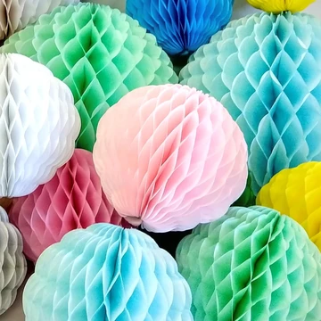 Large 14 Inch Honeycomb Scallop Ball Decoration 3 Pack Solid Colors In 2020