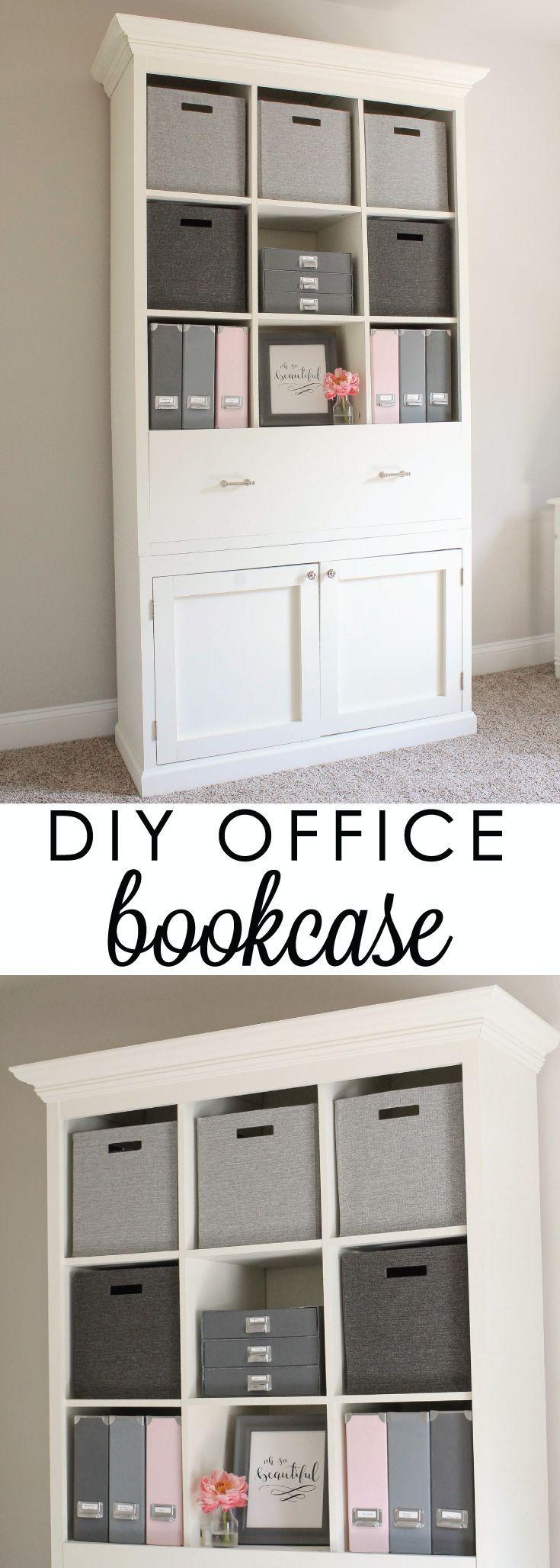 Diy Office Bookcase Cabinet Perfect For Pretty Organization And Decor Click Free