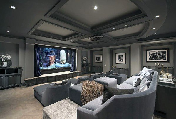 Top 70 Best Home Theater Seating Ideas Movie Room Designs In 2020 Home Theater Room Design Home Cinema Room Home Theater Rooms