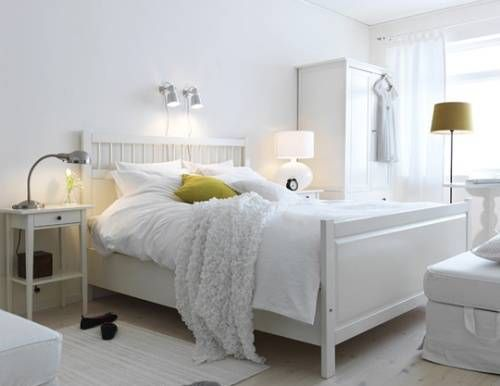 Example Of White Ikea Hemnes Bedroom