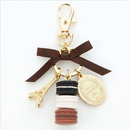 LADUREE Key Chain Macarons Effiel Tower pistache from Japan Best for Gift New