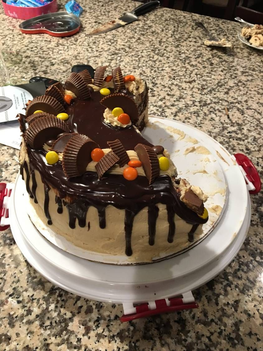 Reeses explosion cake recipe in 2020 cold cake cake