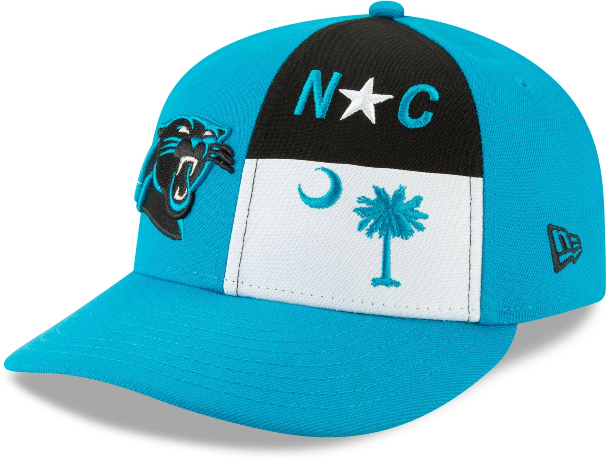 buy online d7b4c aa006 New Era Men s Carolina 2019 Draft 59Fifty Fitted Blue Hat, Size  7 1 8, Team
