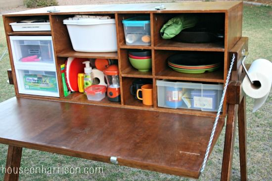 my big project our camping kitchen chuck box i love this thing - Camping Kitchen Ideas