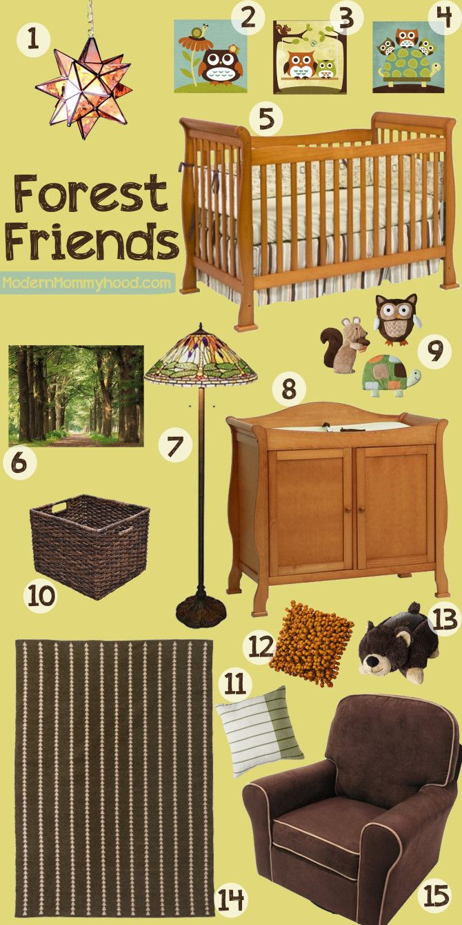 Forest Friends Nursery Decor Not Super Relevant Based On How You Will Set Up Your