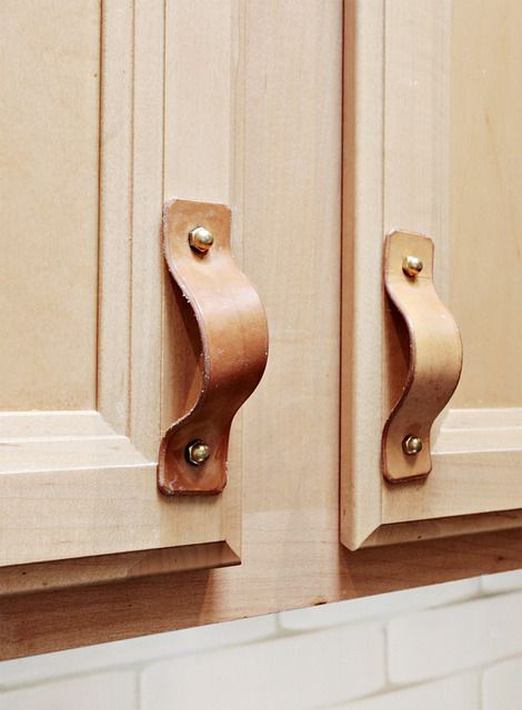 Leather For Cabinet Door Handles How Cool Is That Door Handles Kitchen Door Handles Kitchen Spotlights