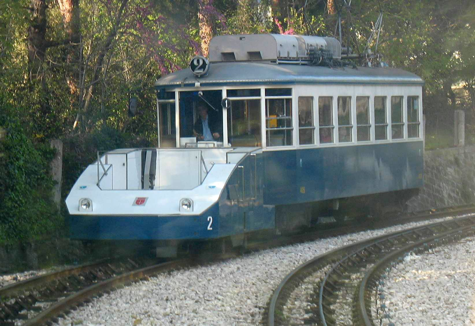 Trieste to Villa Opicina Tramway The new shield tank nº