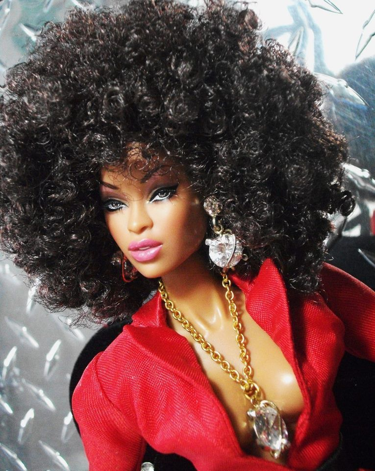 Pin By Marquita Beene On Barbies Natural Hair Doll Black Barbie Beautiful Barbie Dolls