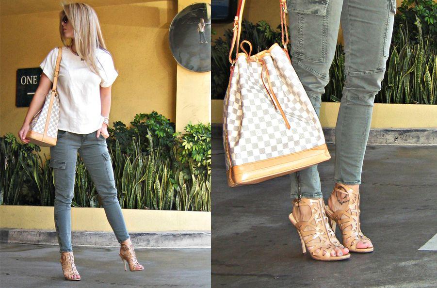 Maegan Tintari - J Brand Skinny Cargo Pants, Louis Vuitton