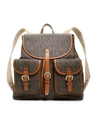 MICHAEL Michael Kors  Jet Set Signature PVC Backpack. $328