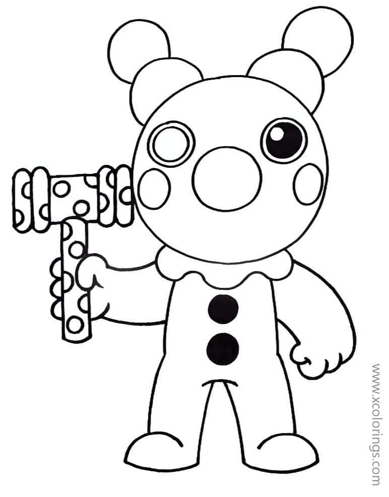 Piggy Roblox Coloring Pages Clown Coloring Pages Lego Coloring Pages Pokemon Coloring Pages