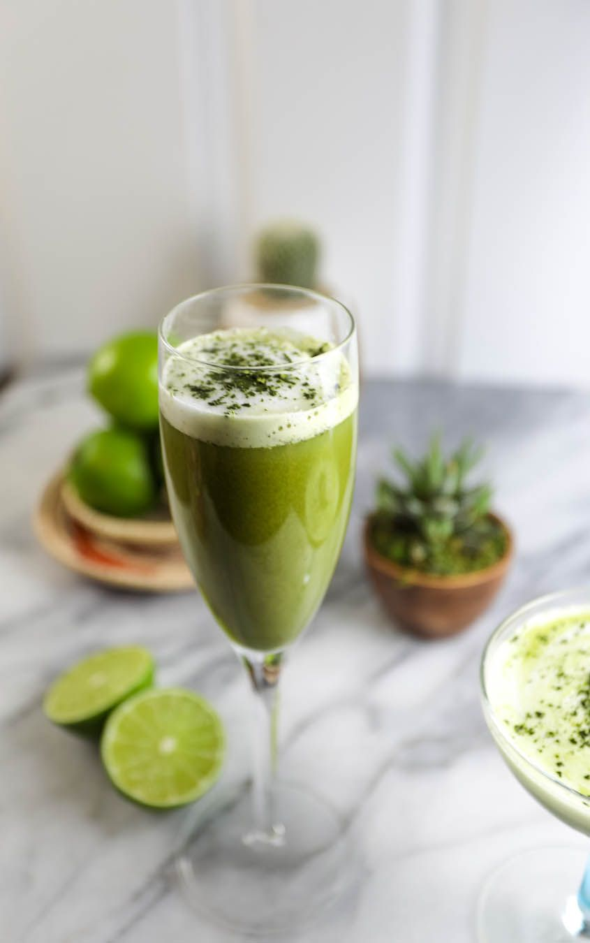 Matcha Pisco Green Tea Cocktail Recipe Green Tea Cocktail Tea Cocktails
