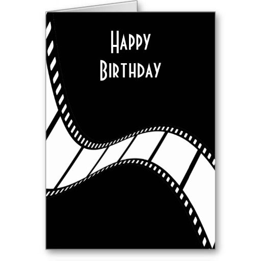Film Strip Happy Birthday Card Zazzle Com In 2021 Birthday Greetings Funny Happy Birthday Cards Birthday Cards