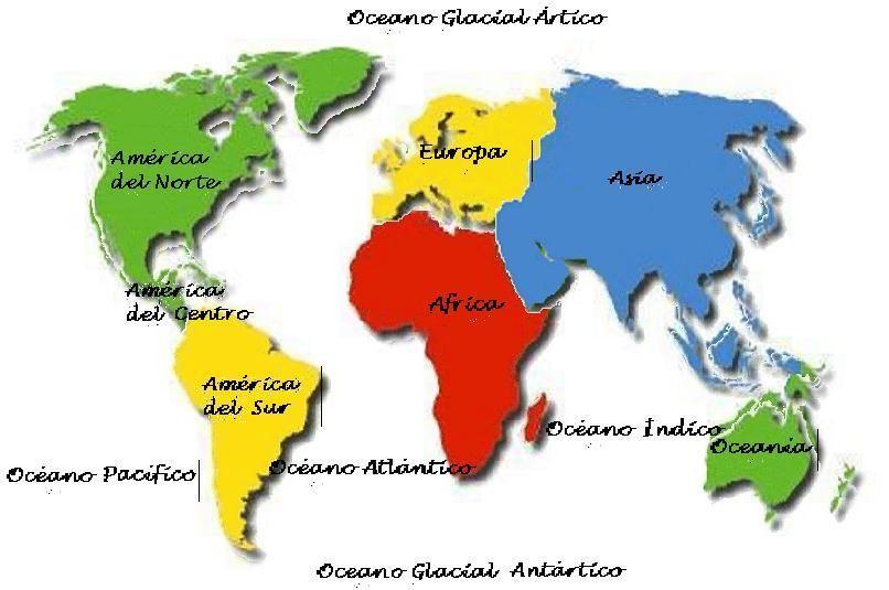 Los Continentes Continentes Y Océanos Continentes Imágenes De Mapas