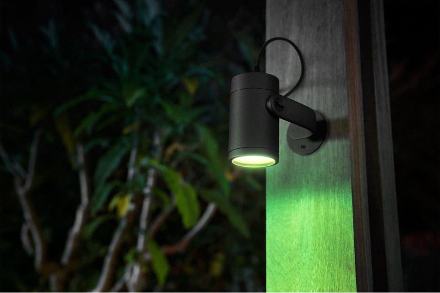 Bringing Smart Home Automation To The Outside Philips Hue Lily Outdoor Spot Light Review Crav Outdoor Lantern Lighting Hue Philips Outdoor Landscape Lighting