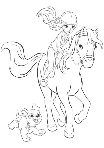 lego friends mia coloring pages  horse coloring pages