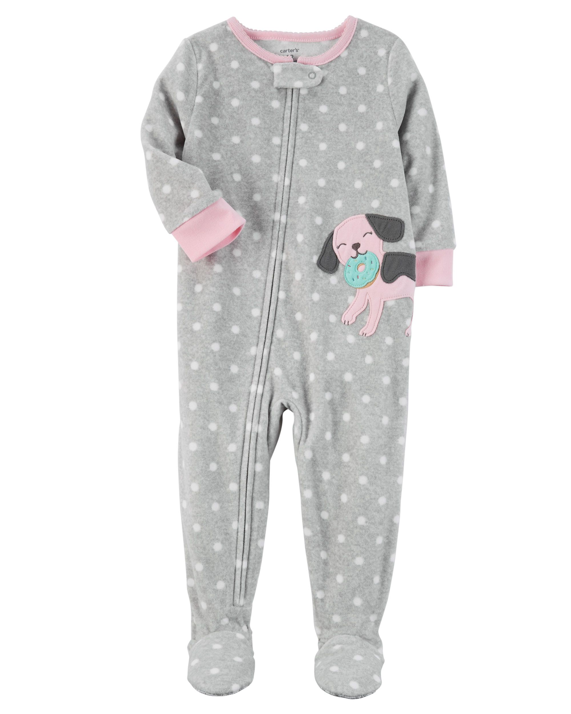 c516d97d9926 1-Piece Dog Fleece PJs
