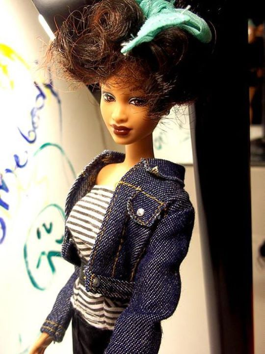 "Obvious Magazine says, ""A Barbie doll inspired by Houston's appearance in the music video for ""I Wanna Dance with Somebody (Who Loves Me)"" (1987). Houston became one of the few black female artists whose music videos received heavy rotation on MTV and other music video channels."""