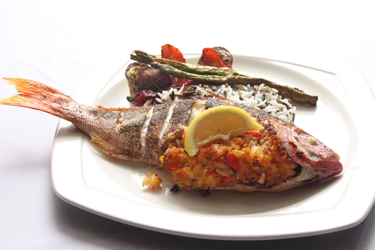 Stuffed Red Snapper