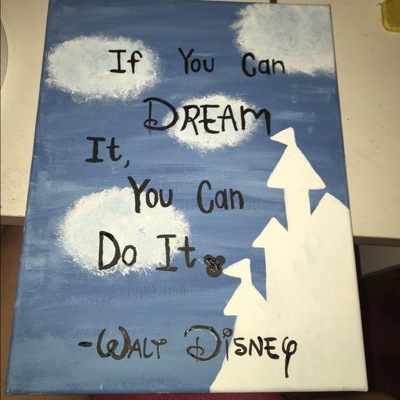 Disney Painting Made For My Sister Her Birthday Super Cute Canvas Let Me Know If You Would Like One Other