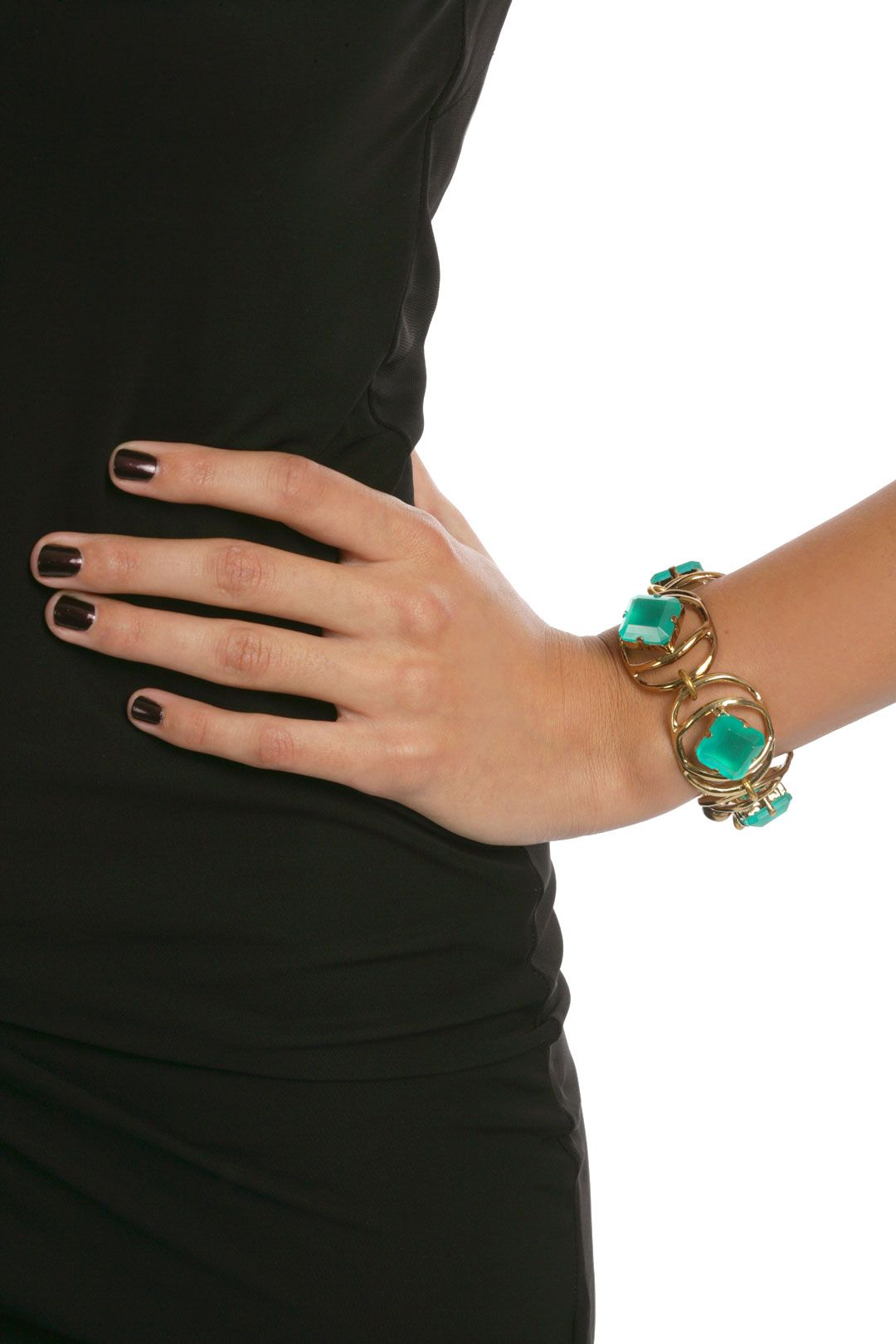 Althea Green Bracelet by Lulu Frost. Love the manicure and nail shape too