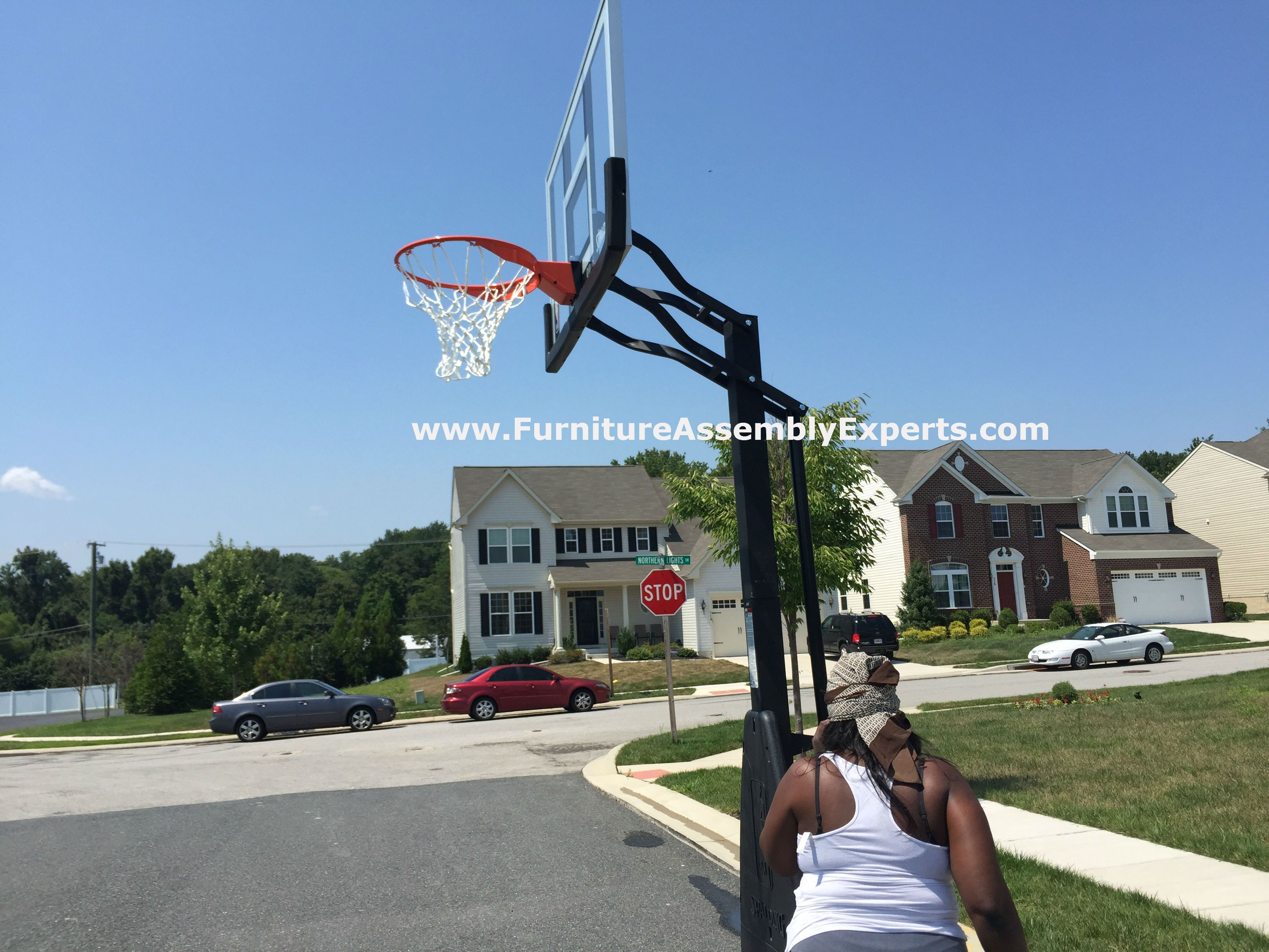 Spalding Portable Basketball Hoop From Walmart Assembled In Aberdeen Md By Furniture Assembly Experts Furniture Assembly Indoor Sauna Portable Basketball Hoop