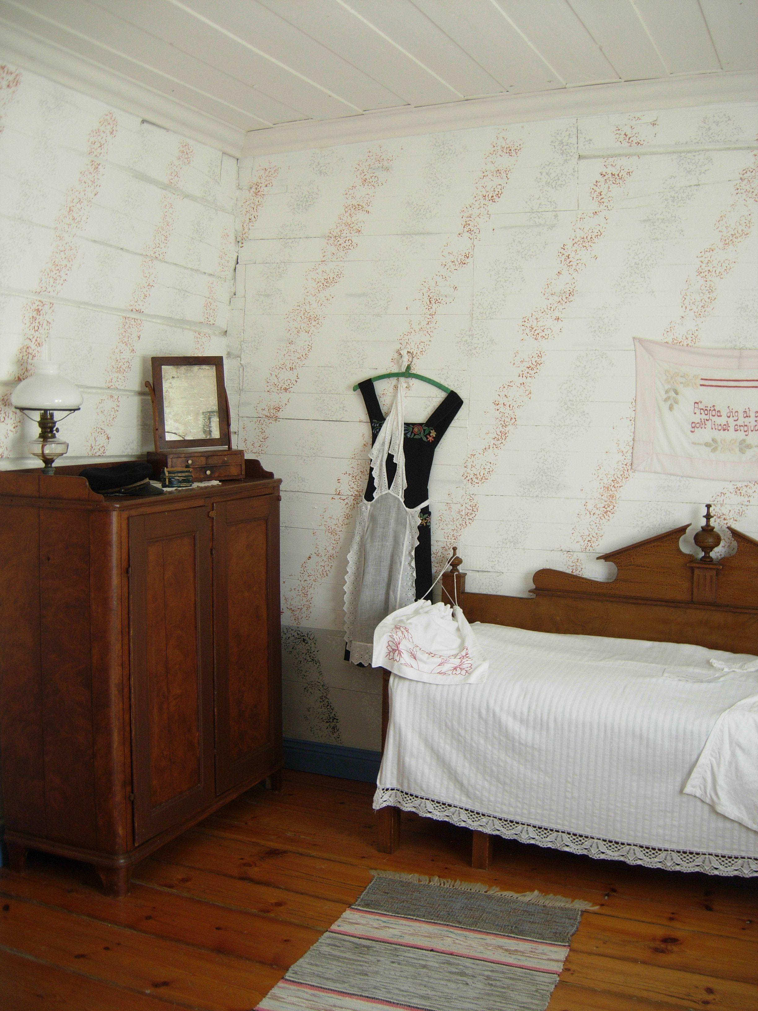 Kammaren i Pehrsgården på friluftsmuseet Swensblijda, Piteå
