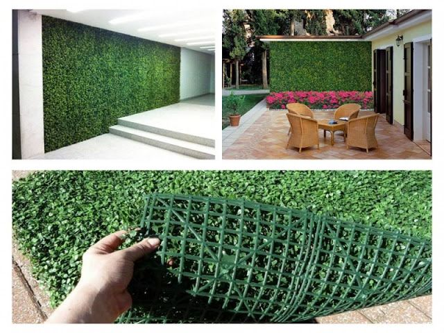 Jardin vertical artificial terrazas pinterest for Plantas artificiales jardin vertical