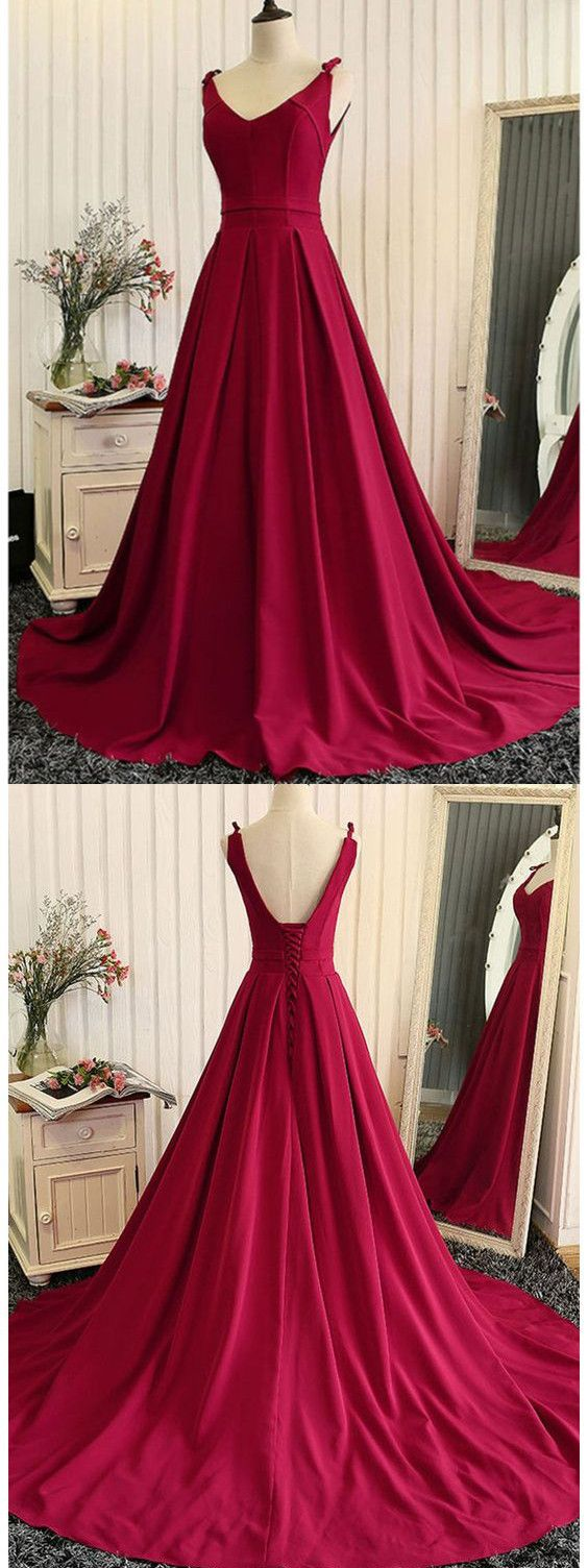 Chic a line burgundy prom dress modest beautiful floral cheap long