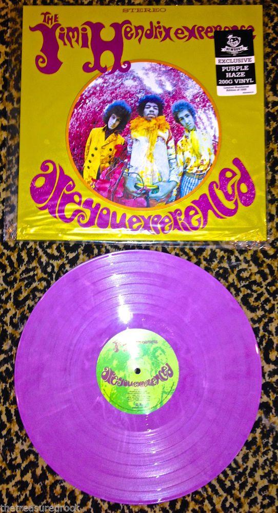 Jimi Hendrix ARE YOU EXPERIENCED PURPLE HAZE colored 200 GRAM VINYL RARE 1500 LP