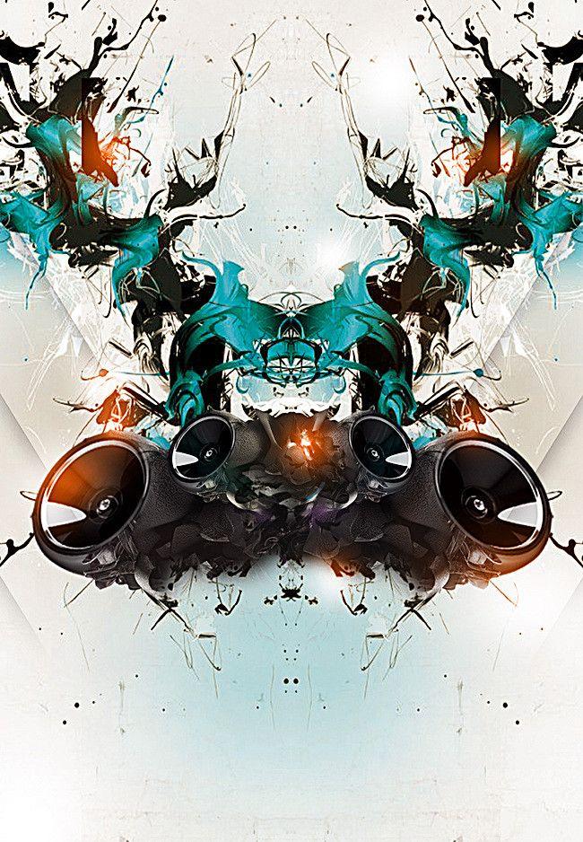 Dynamic Microphone Music Party Poster Design de cartaz