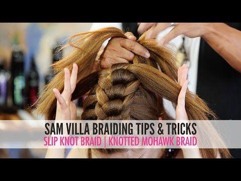 Slip Tie Braid   Knotted Mohawk Braid - YouTube