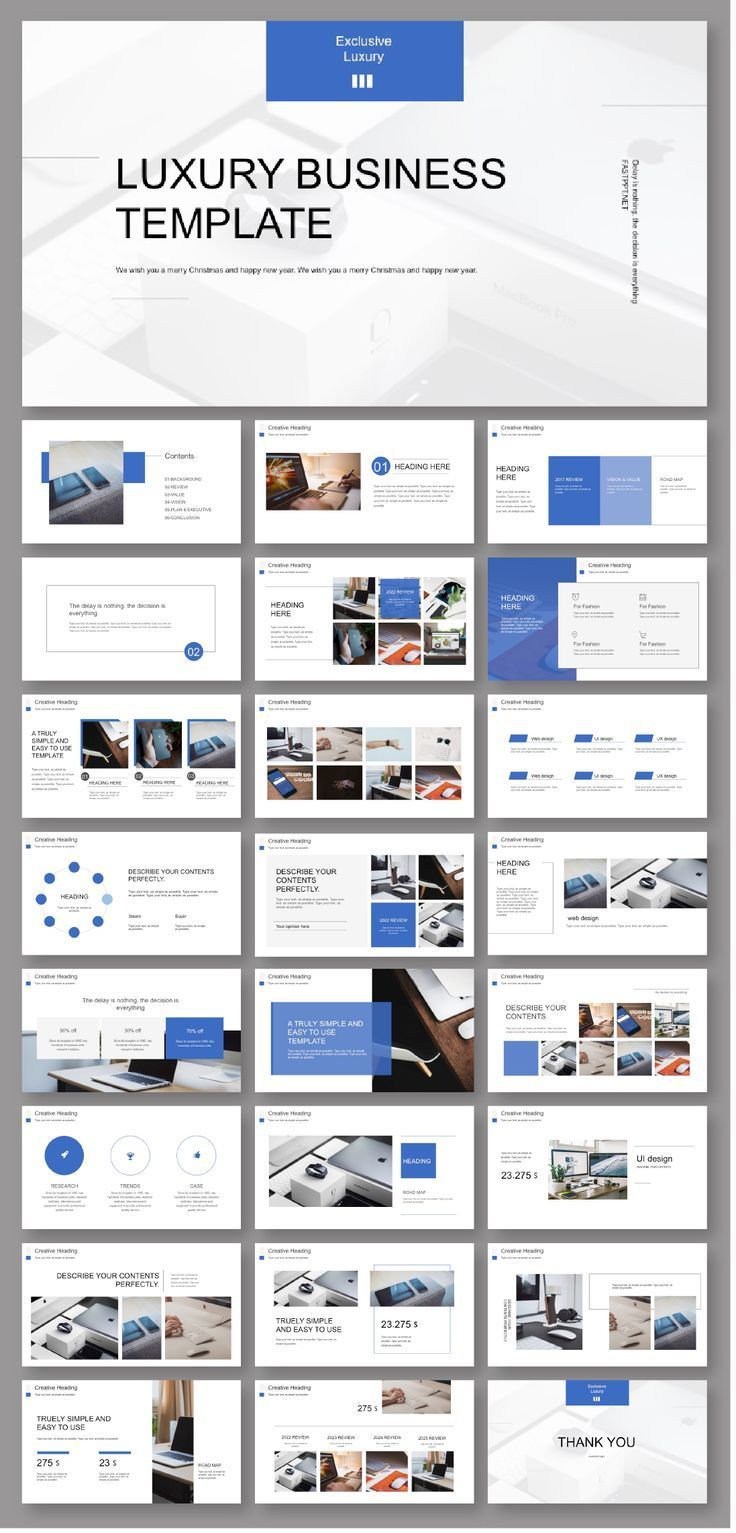 Business Plan Blue PowerPoint Template Présentation