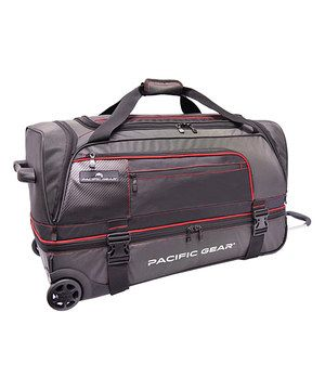 I LOVE THE DESIGN, SIZE AND MULTIPLE FEATURES THIS BAG HAS TO OFFER!!  Impressive details help this sturdy, spacious duffel stand out at the baggage claim. The interior zippered divider makes it easy to create two roomy compartments for organizing essentials, while multiple exterior pockets are perfect for stashing last-minute items. An ergonomic telescopic handle, generously sized wheels, super-tough construction and more ensure maximum comfort and durability.