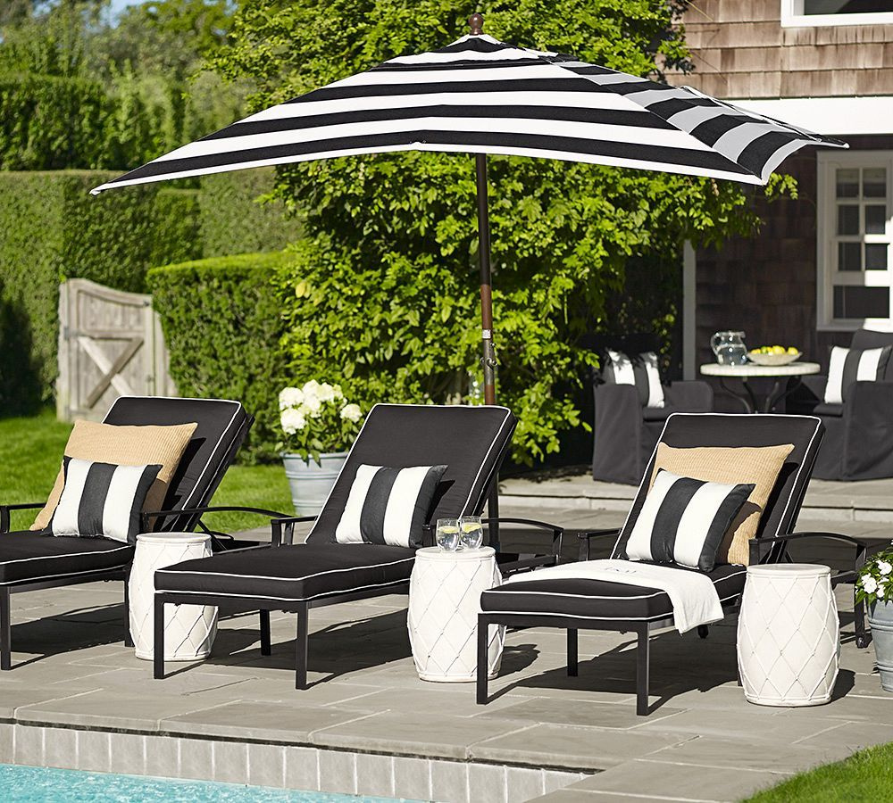 Outdoor Pillow · Black And White Stripe Perfection.