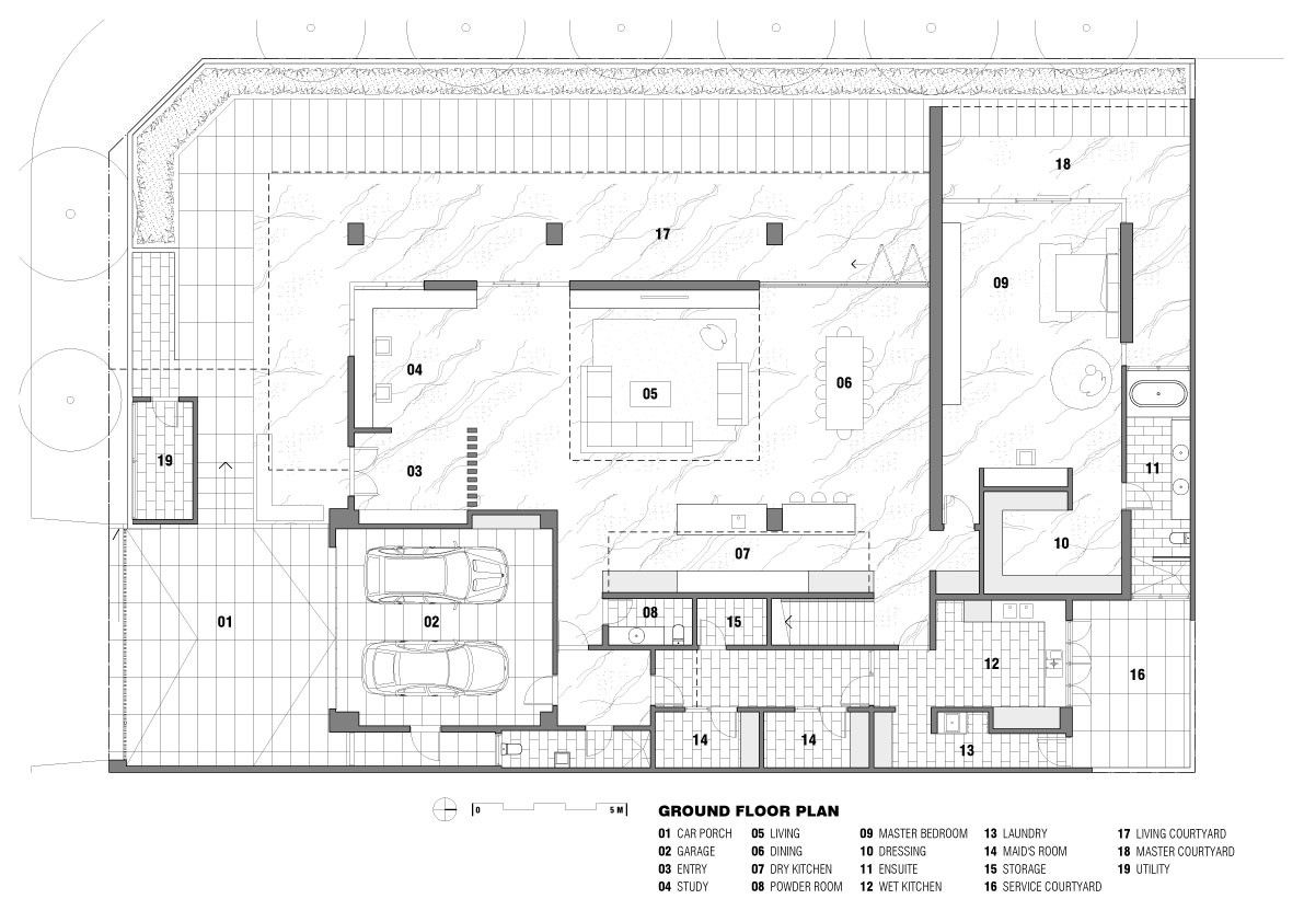 Pik Residence In Jakarta Indonesia Floor Plans Ground Floor Plan House Floor Plans
