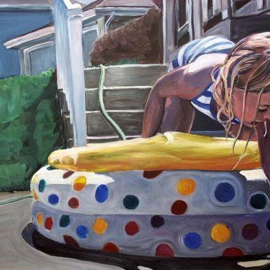 Dot Pool by Lorrie Boydston, Painting - Acrylic | Zatista