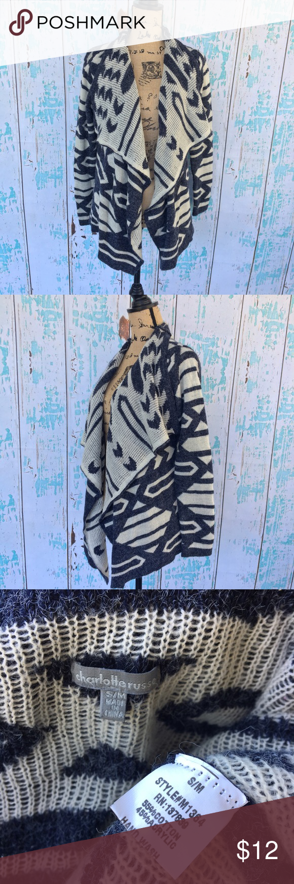 Charlotte Russe tribal print size S/M Charlotte Russe tribal print size S/M Charlotte Russe Sweaters Cardigans