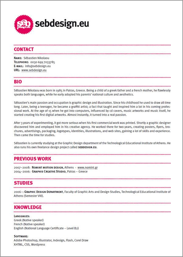 resume design ideas easy with a touch of personality